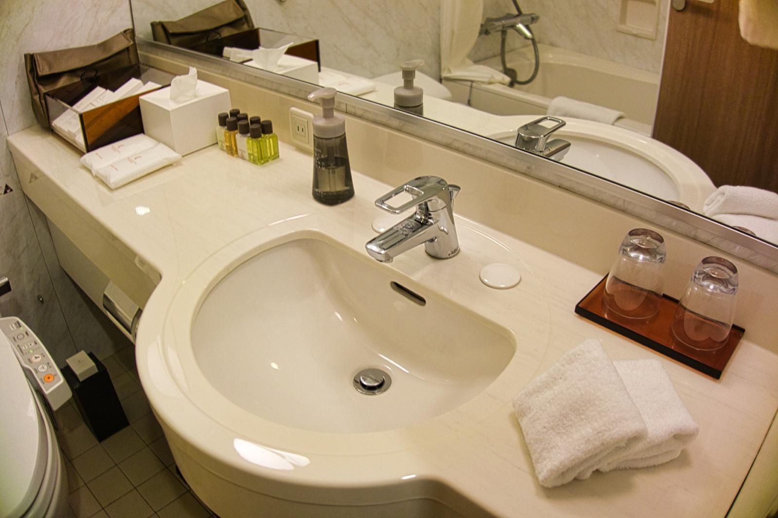ホテル ザ セレスティン東京芝 モデレートクイーン 洗面所