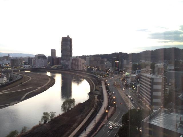 ホテルの部屋からの風景
