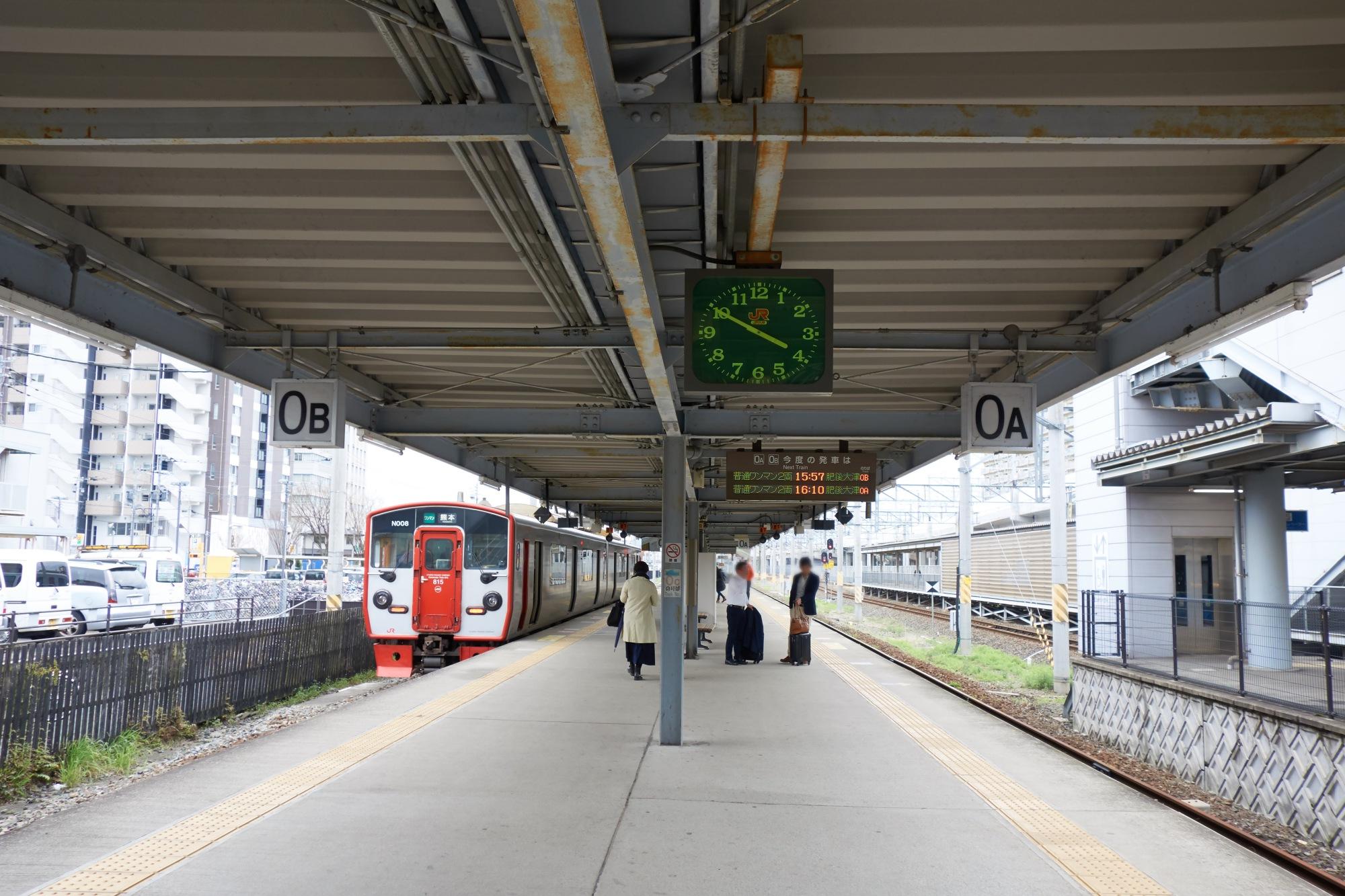 JR熊本駅0番線ホーム