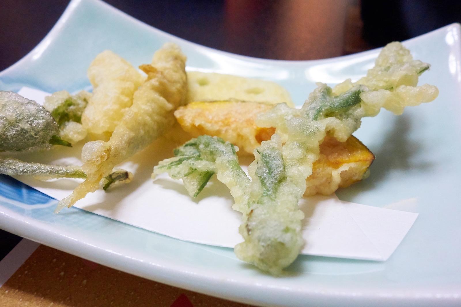 旅館芳野 夕食の天ぷら
