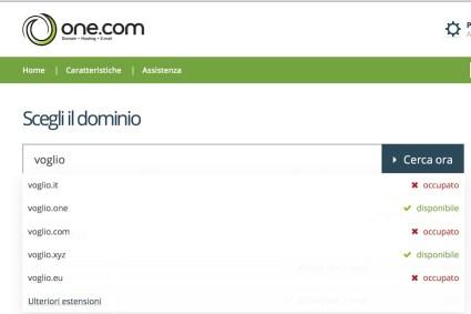 nome dominio