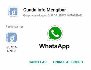 Grupo de Whatsapp de Guadalinfo Mengíbar