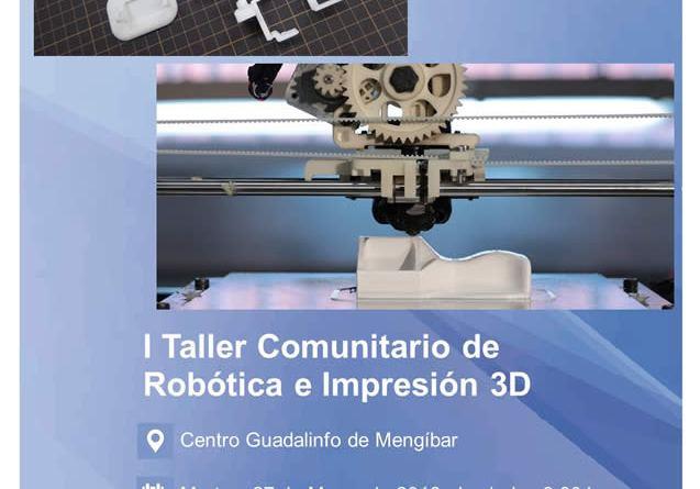 Taller de robótica e impresión 3D en Mengíbar