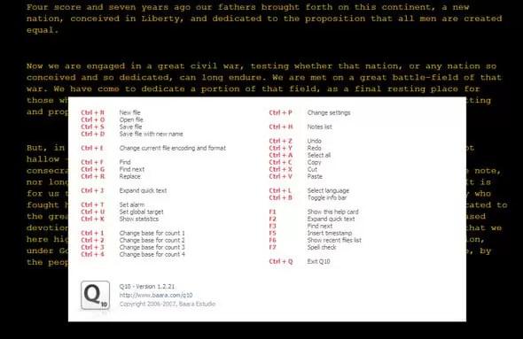 Q10 software para escritores