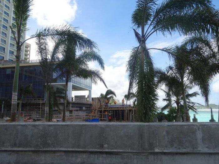 デュシタニグアムリゾートが建設中