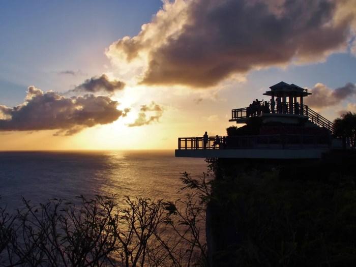 グアムの恋人岬のサンセット
