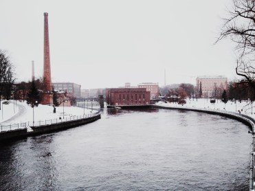 1. Tampere in Southern Finland was a historical centre of Finnish industry and commerce, though many factories and buildings have since been refurbished to house museums. Finland's third-largest city is powered by dams and power stations. The pictured dam between Finlayson and Tampella is located on the channel of rapids, Tammerkoski.