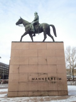 3. The statue of Marshal Carl Gustaf Emil Mannerheim, voted in 2004 as the greatest Finn of all time for commanding forces to preserve Finland's independence from Russia. The statue is located on Mannerheimintie, the prominent eponymous boulevard in Helsinki.