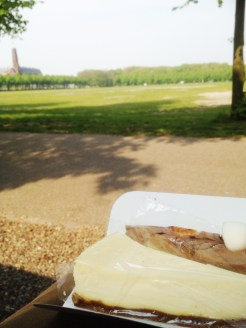 10. Two slices of delicious cheesecake at the Malieveld, a large grass field across the central train station. The cheesecakes from the Cheesecake Company were divine.