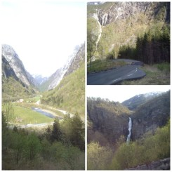 15. From Gudvangen to Voss the bus makes a steep descent. From the left of the vehicle you will see more waterfalls, and on the right the slopes of the fjords, but after a day of non-stop sightseeing it matters little (I fell asleep, haha).