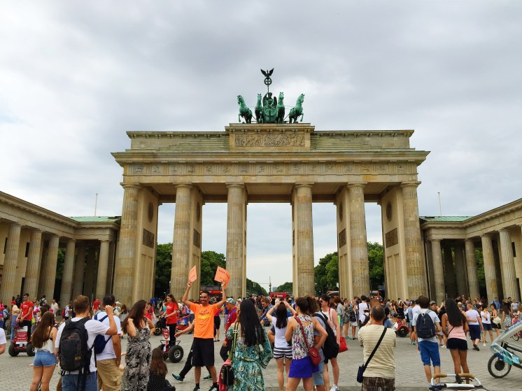 1. Perhaps the most iconic landmark in the city, the Brandenburger Tor (Brandenburg Gate) was commissioned as a sign of peace, and has featured in major events in European history, including the opening of the Berlin wall in 1989. The gate overlooks the Pariser Platz (Paris Square), which was renamed in 1814 after Napoleon was overthrown.