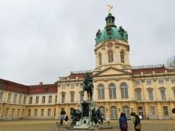 7. The Schloss Charlottenburg (Charlottenburg Palace) is the largest palace in the city. This royal residence and its gardens are popular spots for tourists, though we arrived early in the morning (the tour within the buildings was not open) and there was also reconstruction work.