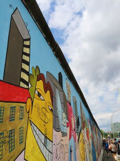 21. The East Side Gallery, a 1.3-kilometre long section of the Berlin Wall.