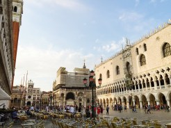 9. Without chuckling, the Palazzo Ducale (Doge's Palace) is found on the other side of the Piazza San Marco, next to the Bascilica di San Marco. The Doge of Venice – title of the senior-most elected official of the historical republics of Venice and Genoa – used to reside in the palace, which is decorated with grand pillars and sculptures.