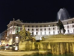 9. The Fountain of the Naiads stands in the middle of the semi-circular Piazza della Repubblica, and the fountain itself – once again, since Rome had a complex water and sewage system – was also connected to an aqueduct. Across the city, there are also taps dispensing cool potable water, which is a welcome relief in the hot, arid summer. Trips should also be made to the piazzas in the nights, when the atmosphere and sights are different.