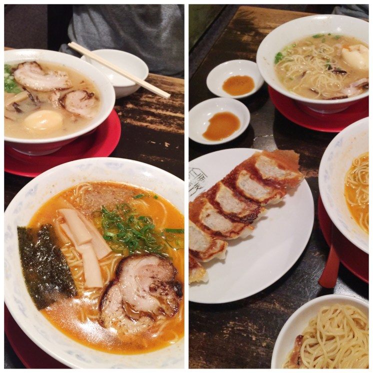 1. Upon arrival in Osaka, after we settled into our apartment in the Ebisuchō area, we headed out for late-night ramen and gyozas. And it was a great first meal. The chashu pork or braised pork in particular was charred very nicely.