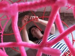 Liza Grobler sculpture in process.