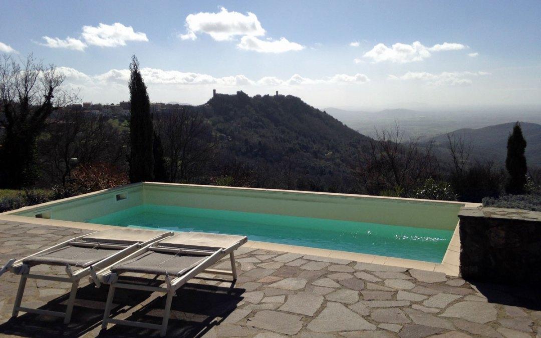Heute das Schwimmbad geöffnet