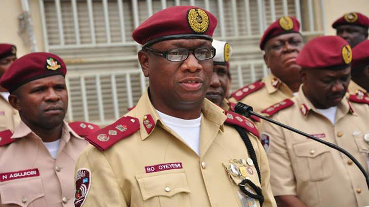 Special Marshals Of The Federal Road Safety Corps (frsc) In Agbado, Ogun, On Wednesday Donated Sanitisers And Food Worth N320,000 To Some  Agencies In The Area. Speaking During The Distribution Exe