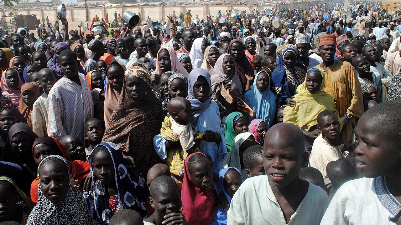 The Edo Government Has Donated Food Items To The Internally Displaced Persons (idps) Camp At Ohogua, Near Benin, To Cushion The Effect Of The Coronavirus Pandemic At The Camp. Mr Solomon Folorunsho,