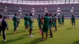 Image result for W/Cup Qualifier: 14 Super Eagles players arrive in Uyo