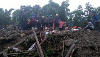 Image result for Two dead, 25 missing in China landslide