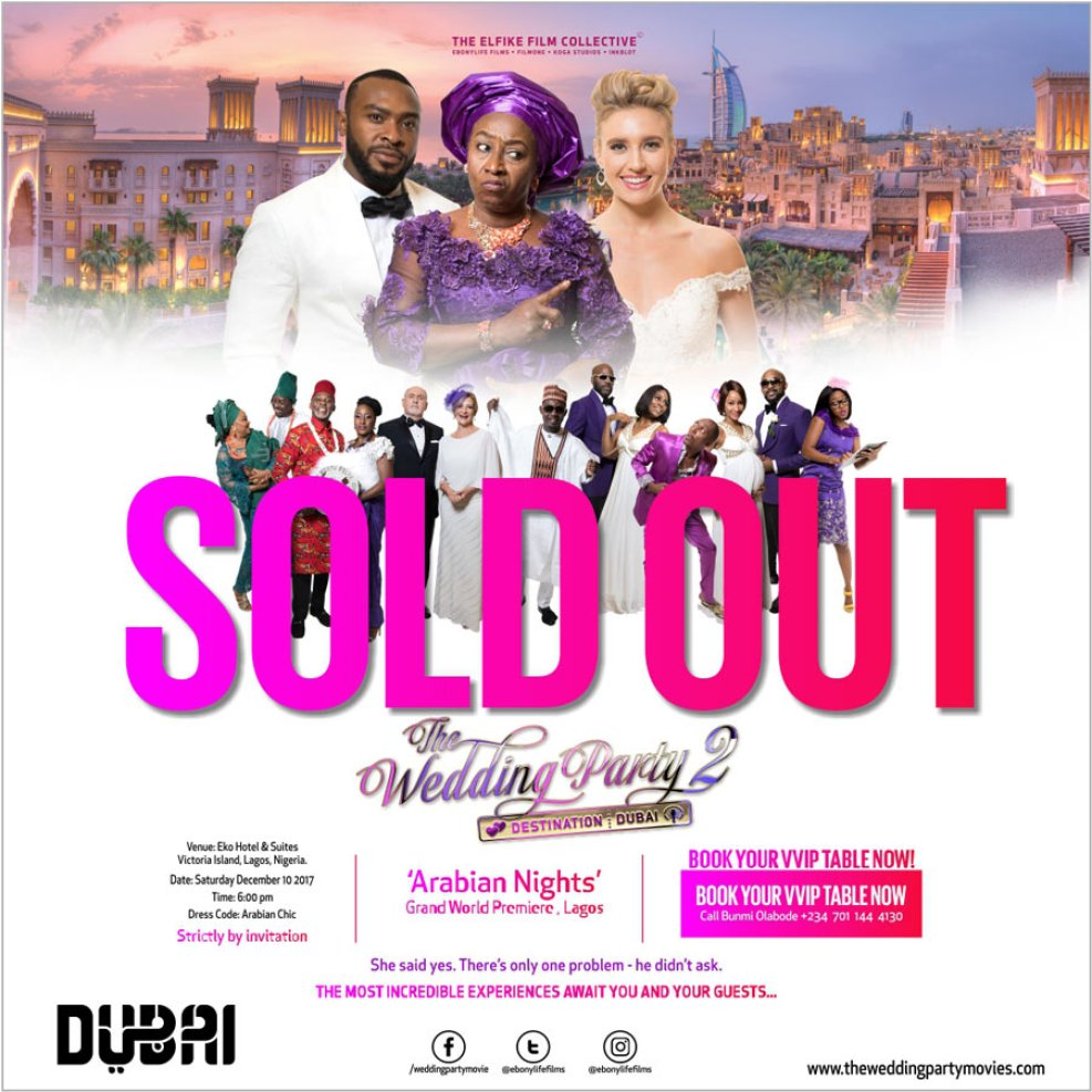 """soldout - """"Wedding Party 2"""" World Premiere Sells Out Four Weeks Ahead Of Schedule"""