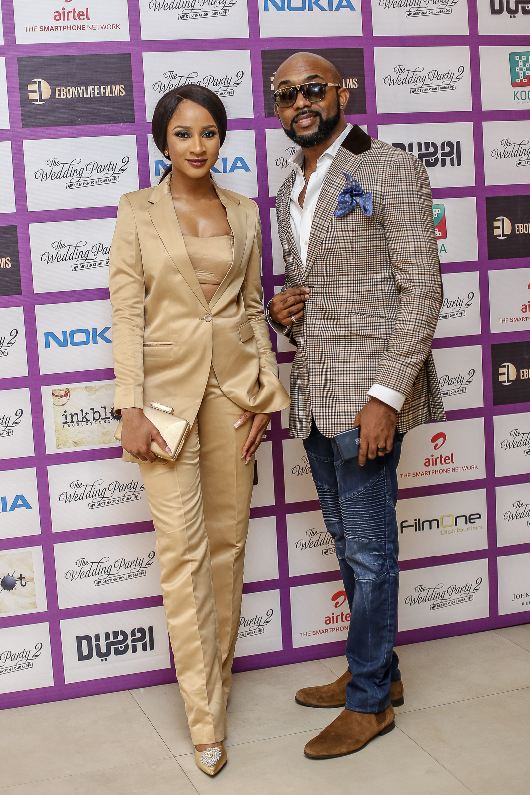 Adesua  Banky W1 - Highlights From The Early Screening Of The Wedding Party 2