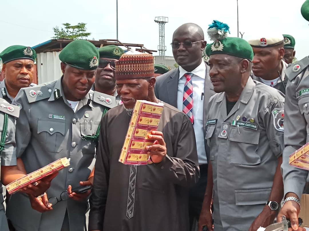 Customs impounds two aircraft 40 containers of tramadol 1 - DCG urges Customs officers to shun corruption
