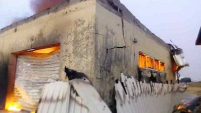 Image result for Fire guts INEC office in Imo