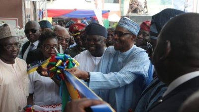 Image result for Buhari commissions newly reconstructed maternity institute