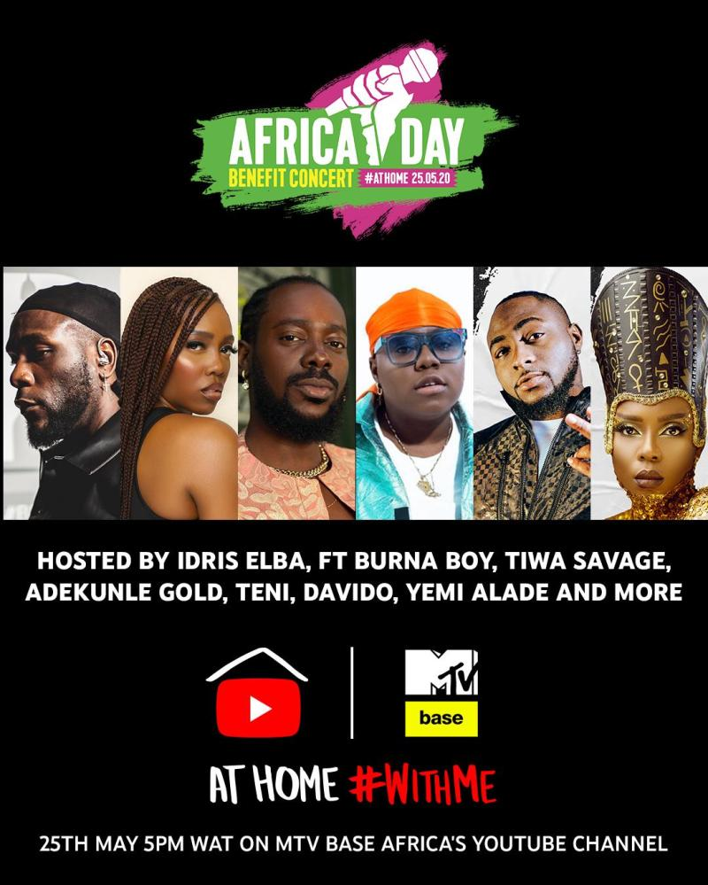 Davido, Tiwa Savage, Others join Idris Elba for 'Africa Day ...