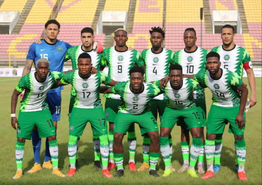 Nigeria's Super Eagles pose for pictures before a recent international. They are now ranked 34th in the world.