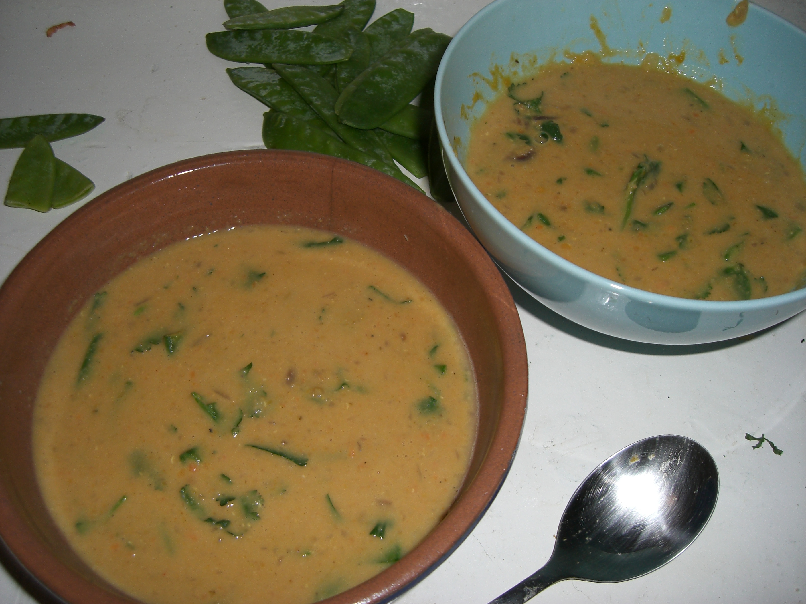 MY red lentil soup (it's not Terry's)