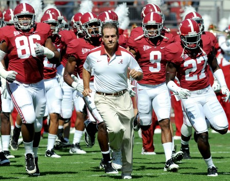The Golden Nugget released betting lines for 250 NCAA Football games for 2013. Alabama is favored to win every single game it plays this year.