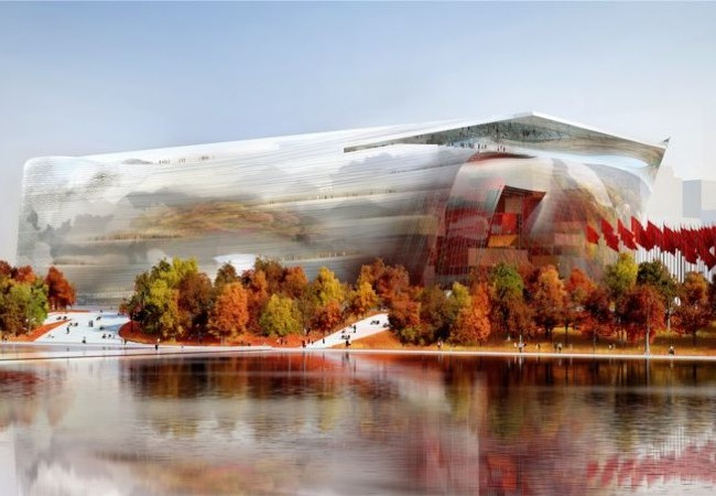 National Art Museum of China designed by French architect Jean Nouvel