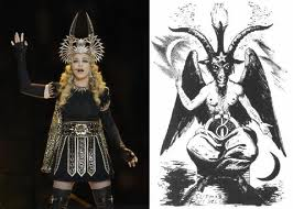 Madonna has been long-tied to the Illuminati. Here is her previous Superbowl performance.