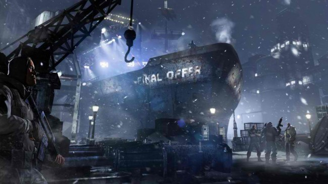 Penguin's Final Offer Ship situated at the docks