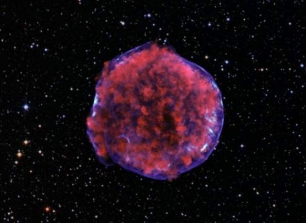 Supernova remnant illuminated by Mach 1000 reverse shock wave