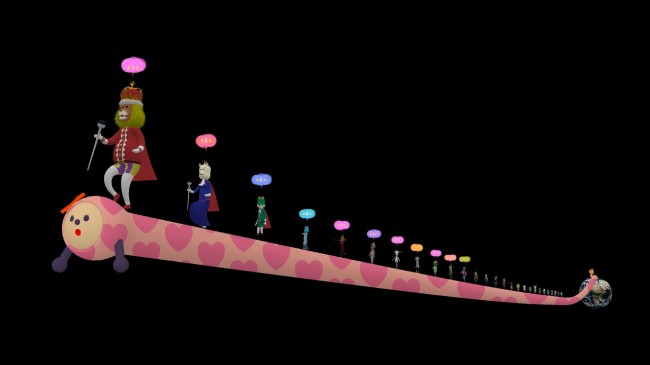 GIRL noby noby boy created by thatgamecompany