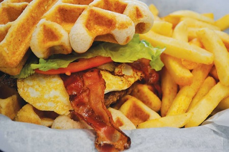 J&K Style Grill Home of the Famous Waffle Burger and Stuffed Chicken Wings