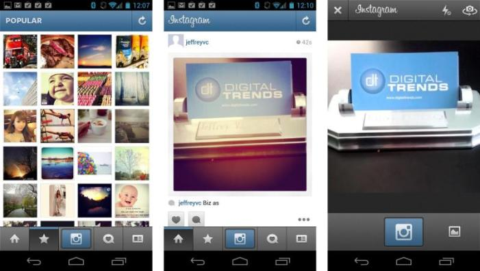 Image Sharing via Instagram and Twitter