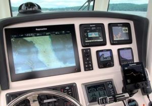 Depth Finder in Boat Console