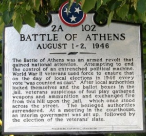 Battle of Athens Plaque