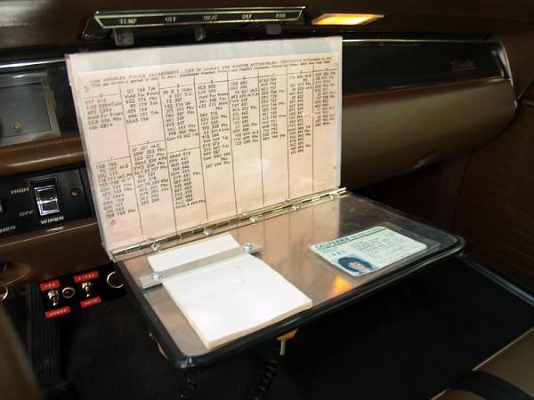 INSIDE AN ADAM-12-ERA PATROL CAR (2/3)
