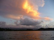 sunset on the Rio Dulce