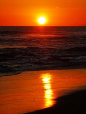 sunset at San Diego beach
