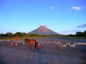 Volcan Concepcion and horse