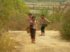village girls being shy