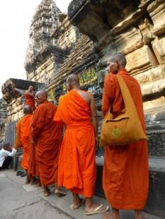monks celebrating something